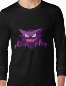 Haunter Pokemon Simple No Borders Long Sleeve T-Shirt