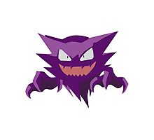Haunter Pokemon Simple No Borders Photographic Print