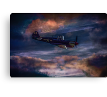 Hiding In The Storm Clouds Canvas Print