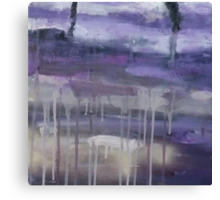 Drippy Afternoon Abstract Print Canvas Print