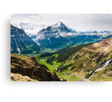 grindelwald valley Canvas Print