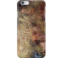 Scribbles on gold and copper iPhone Case/Skin