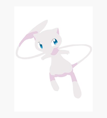 Mew Pokemon Simple No Borders Photographic Print