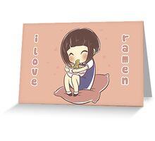 I love ramen Greeting Card