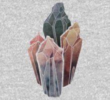 Dark Watercolor Crystals Kids Clothes