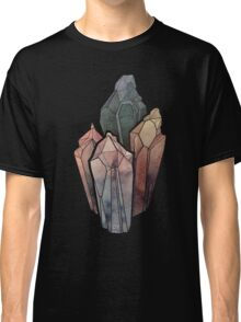 Dark Watercolor Crystals Classic T-Shirt