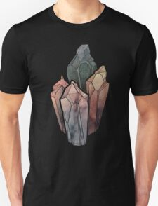 Dark Watercolor Crystals Unisex T-Shirt