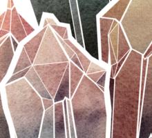 Dark Watercolor Crystals Sticker