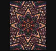 """On the Edge of Reason"" (Earth Tones) - Geometric Abstract Mandala  Baby Tee"