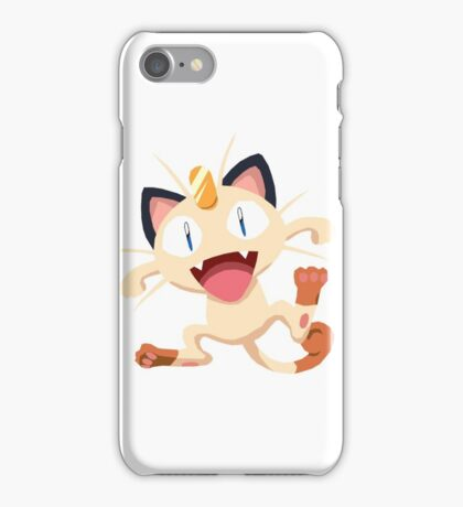 Meowth Pokemon Simple No Borders iPhone Case/Skin