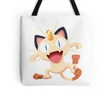Meowth Pokemon Simple No Borders Tote Bag