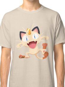 Meowth Pokemon Simple No Borders Classic T-Shirt