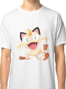 Meowth Pokemon Simple No Borders Classic T-Shirt
