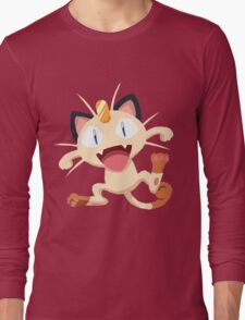 Meowth Pokemon Simple No Borders Long Sleeve T-Shirt