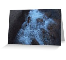 Waterfall Frozen in Time Greeting Card