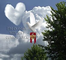 I'M IN LOVE-WITH JESUS COMING BACK-AWAITING JESUS RETURN..DOVE CROWN ROBE CHRISTIAN DECORATIVE PILLOW AND OR TOTE BAG by ✿✿ Bonita ✿✿ ђєℓℓσ