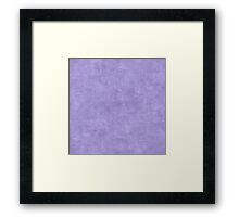 Violet Tulip Oil Pastel Color Accent Framed Print