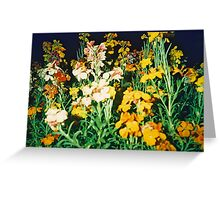 Graveyard Flowers at Night Greeting Card