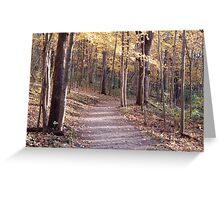 Down the Road I Go Greeting Card