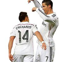 Cristiano and Chicharito  by Enriic7