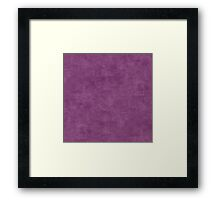 Wood Violet Oil Pastel Color Accent Framed Print