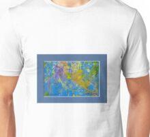 BLUE ABSTRACT GEL MONO PRINT Unisex T-Shirt