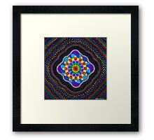 Sacred Geometry - Rainbow Mandala Framed Print