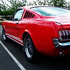 Red mustang by eefy