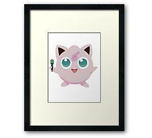 Jigglypuff Pokemon Simple No Borders Framed Print