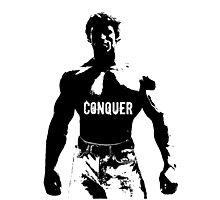 Arnold Schwarzenegger - Conquer Photographic Print