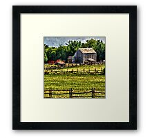 Country Fences Framed Print