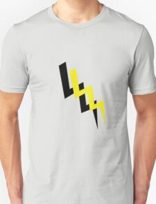Black and yellow lightning Unisex T-Shirt