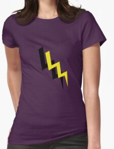 Black and yellow lightning Womens Fitted T-Shirt