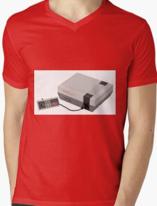 nintendo Mens V-Neck T-Shirt