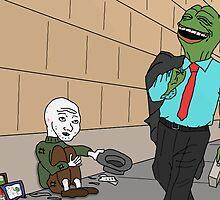 Feels Hobo Laughing Pepe by kendokoala