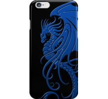Flying Blue Tribal Dragon iPhone Case/Skin