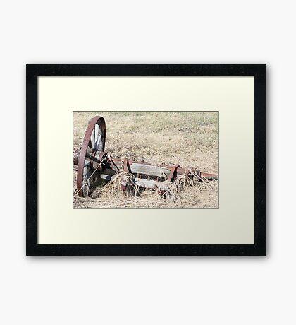 Antique Farm Wagon Wheel & Hub Framed Print