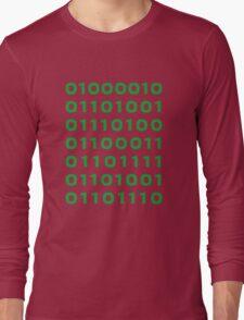 Bitcoin binary Long Sleeve T-Shirt