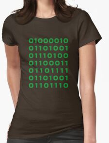 Bitcoin binary Womens Fitted T-Shirt