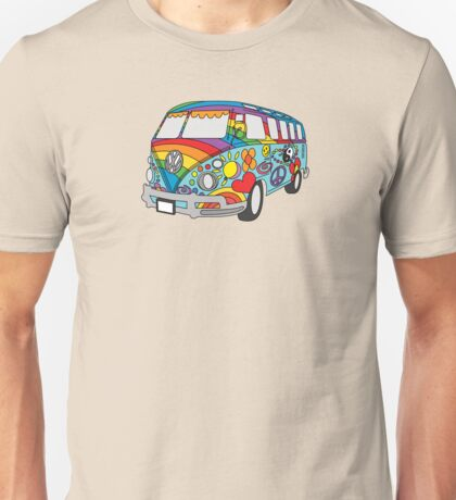 Painted VW Hippie Van  Unisex T-Shirt