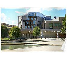 Scottish Parliament Edinburgh Poster