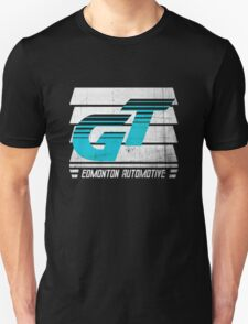 Edmonton Auto - Cyan & White - Slotted Up T-Shirt