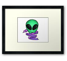 Outta This World Framed Print