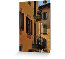 Balconies and Doors Greeting Card