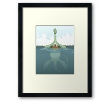 Creature Feature - The Loch Ness Monster Framed Print