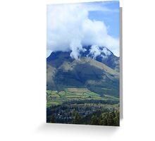 Cloud Cover on Mount Imbabura Greeting Card