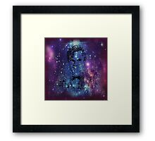 Matt Smith Galaxy Pillow/Tote Framed Print