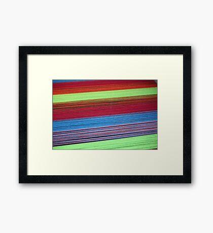 Colorful yarn  Framed Print