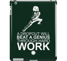 Rock Lee - A Dropout Will Beat A Genius Through Hard Work - White iPad Case/Skin
