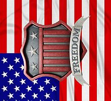 USA Shield by Packrat